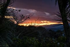 江ノ島からの夕空