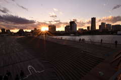 Sun Set over the くじらの背中