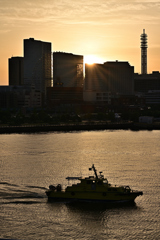 はまこれな風景 落日と船
