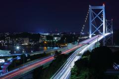 関門橋の夜景