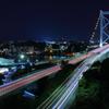 関門橋の夜景②