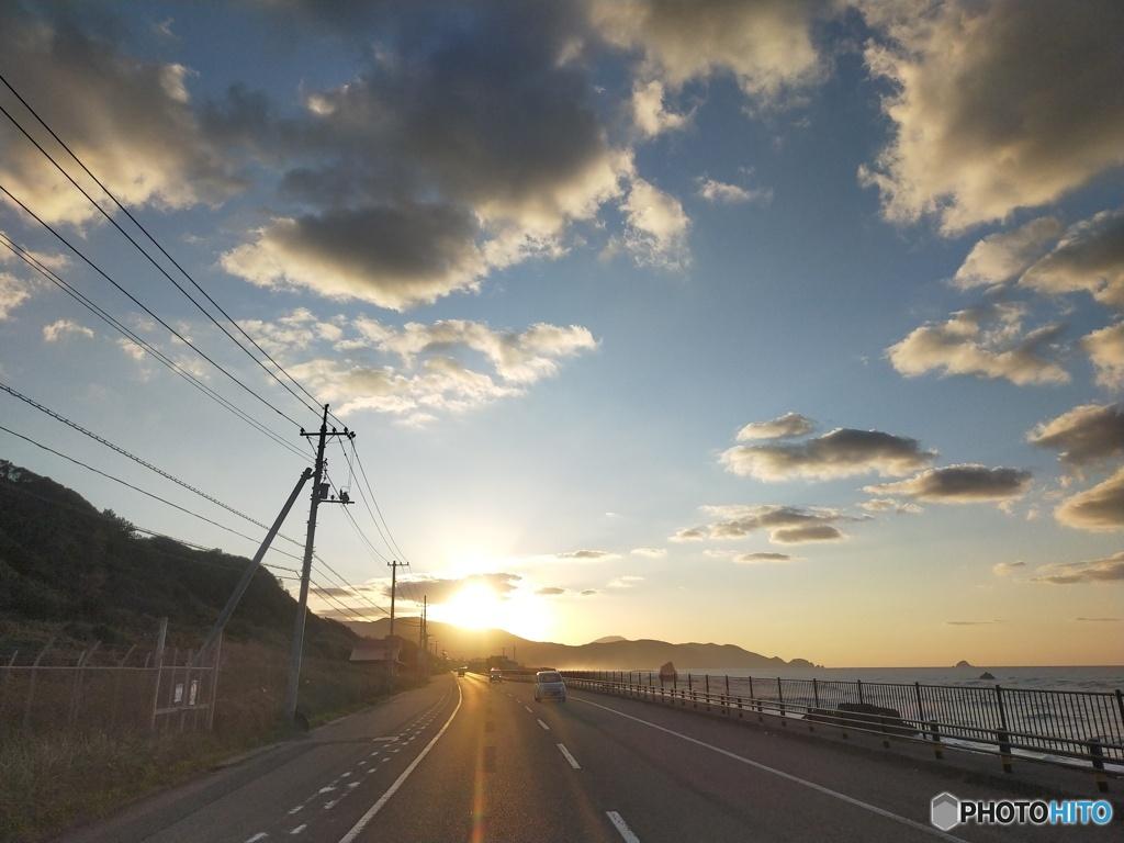 島根の夕暮れ
