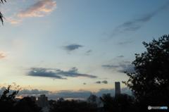 外人墓地からの夕焼け