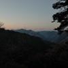高尾山からみた稜線