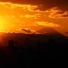 大晦日夕焼け富士山