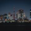消灯後の東京タワー