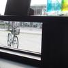 ガラス瓶と自転車