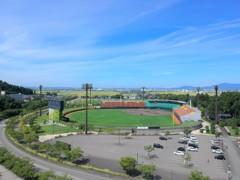 秋晴れの野球場