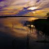 手賀沼の夕景