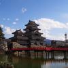 松本城と埋の橋