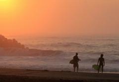 朝の浜(三軒屋海岸)