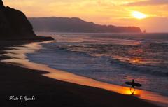 部原海岸の朝