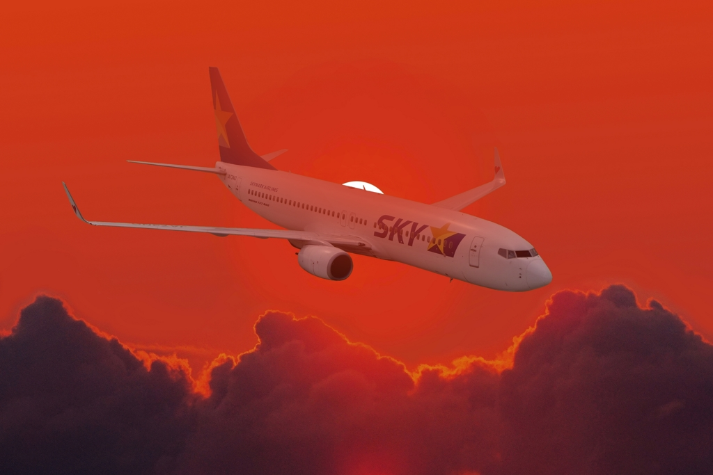 34 Fly in The Red Sky at Night