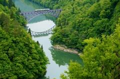 只見線第1橋梁新緑の世界‼