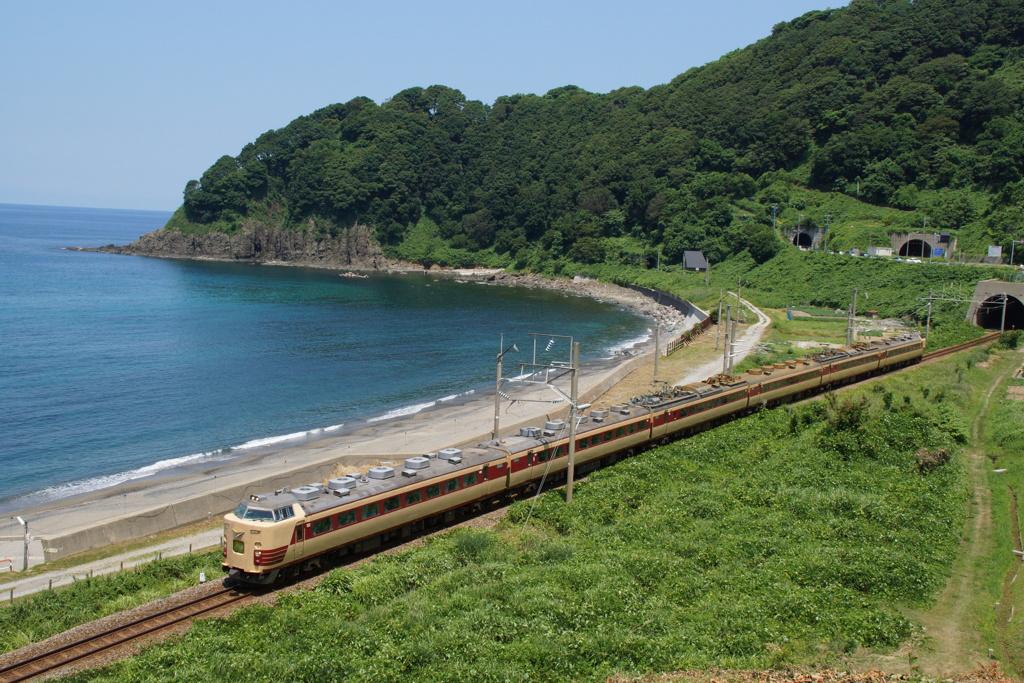 日本海&485系電車特急「いなほ」!