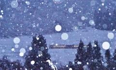 雪が降る風景!