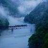 只見線第3橋梁川霧‼