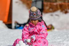 雪のお団子❤