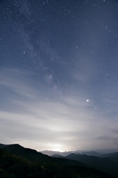 地上の光と銀河の星