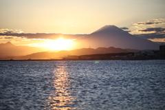 秋色の空と富士の影②