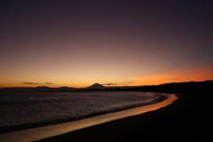 秋色の空と富士の影④