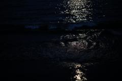 月を溶く潮騒に