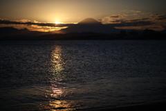 秋色の空と富士の影③