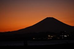 秋色の空と富士の影①