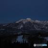 満月と名峰妙高山