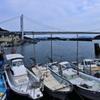 漁港から見た瀬戸大橋