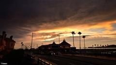大雨の合間の夕景