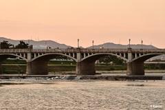 武庫川の夕景