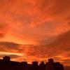 台風通過前の夕焼け