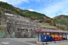 1円電車と神子畑選鉱場跡