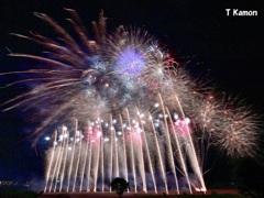 亀岡花火のフィナーレ三景①