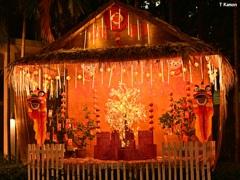 春節祭の飾り
