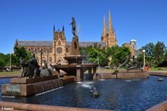 噴水と大聖堂
