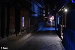 旧海鮮問屋街の夜道