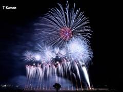 亀岡花火のフィナーレ三景②
