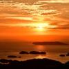九十九島に沈む太陽
