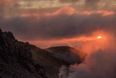雲の中の太陽