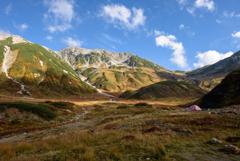 山、秋の色づき…