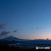 富士山朝景【色付きの空】