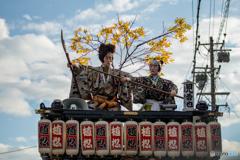 服織田神社祭典【屋台のダシ】