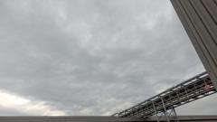 午前の雲。