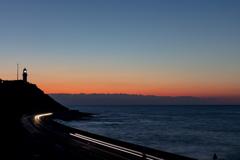 日の出前の灯台【御前崎】