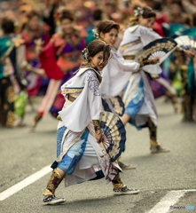 よさこい東海道2018 【常磐】群舞の始まり。