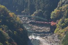 トロッコ列車と保津川下り