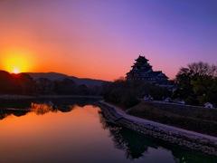 岡山城の朝
