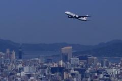 福岡タワーwith日本航空